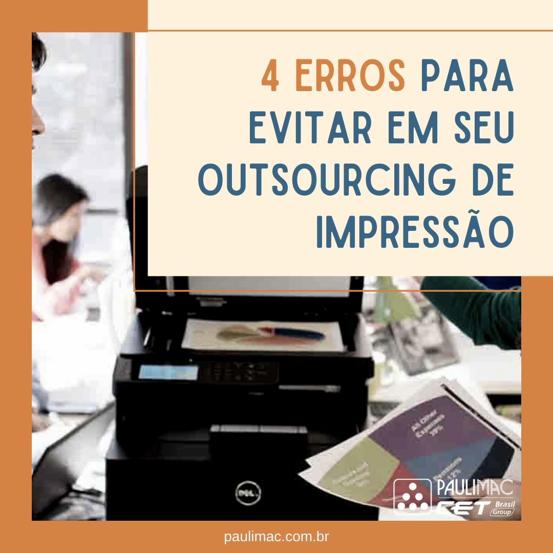 erros do outsourcing de impressão